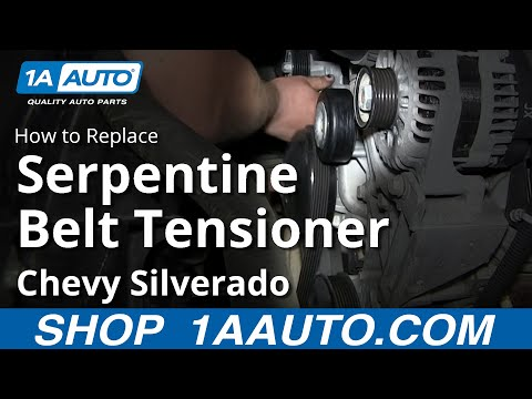 How To Install Replace Serpentine Belt Tensioner 2007-13 Chevy Silverado GMC Sierra
