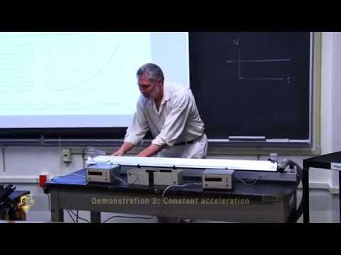 One Dimension - Constant Velocity and Constant acceleration [Physics demonstration]
