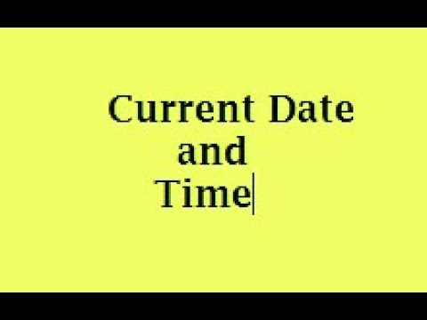 Display Current Date and Time in Java. most important question for java programming interview