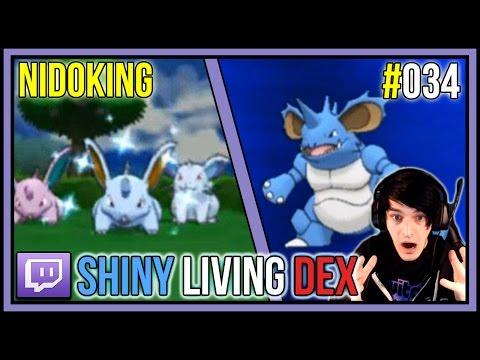 SHINY NIDORAN MALE IN 1 HORDE ENCOUNTER! Shiny Nidoking | Shiny Living Dex #034 | Pokemon X and Y