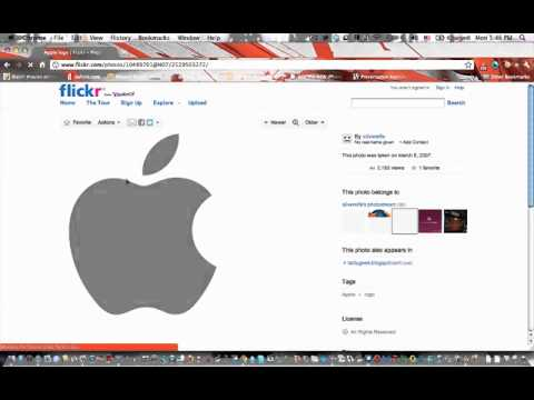 How to save or download copyright images from Flickr using Chrome
