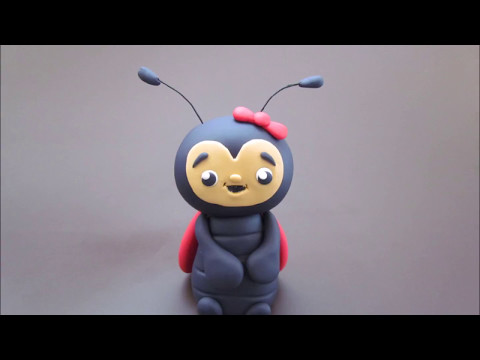 How to make Ladybird from Alma's fondant