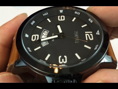 $15 Black case and dial with brown leather Skmei watch by Aposon review - giveaway Sept 10, 2016