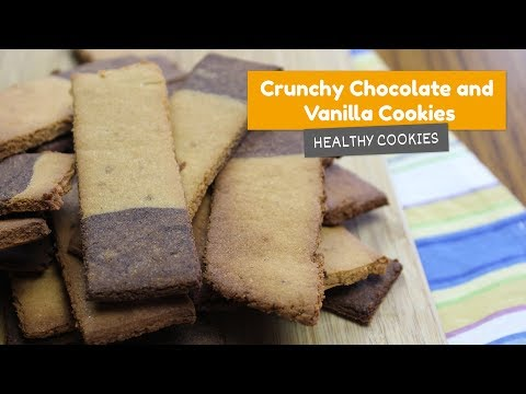 Crunchy chocolate and vanilla COOKIES • Healthy cookies #2