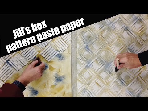 Making pastepaper for a clamshell box