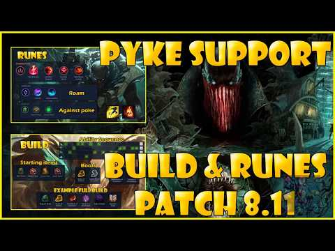 Pyke Support Build and Runes 8.11 Season 8 League of Legends