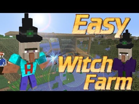 How to Build a Witch Farm in Minecraft | Minecraft With Farm Tutorial | Get Gapples and Glowstone