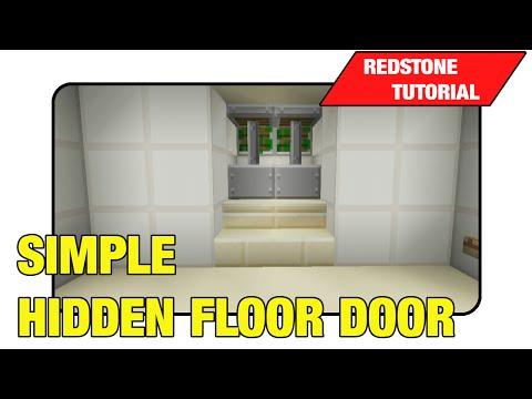 Simple Hidden Floor Door [Two Way Trap Door]
