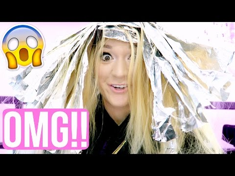 DYING MY HAIR MORE BLONDE!!! OMG!!