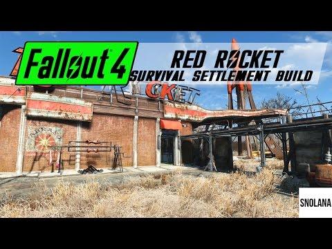 Fallout 4 Settlement Build - Red Rocket Survival Base