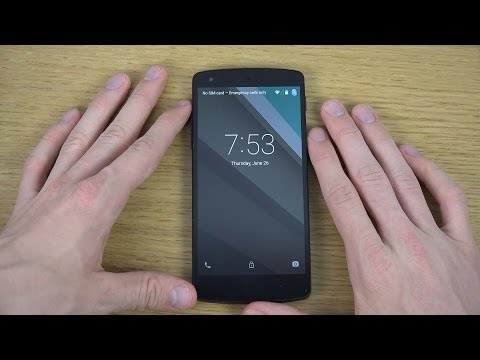 Google Nexus 5 Android L - Lock Screen Review