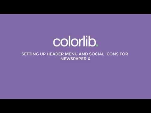 Setting up Newspaper X Header Menu and Social Icons
