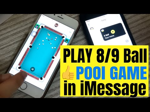 How to play 8 Ball Pool or 9 Ball Pool Game in iMessage iPhone, iPad