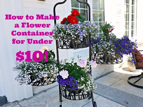 How to Make a Small Flower Container for Under $10!