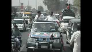 Muhammed Ilyas Choudhary & Raja Brothers Going to PTI Sialkot Jalsa, March 23, 2012.