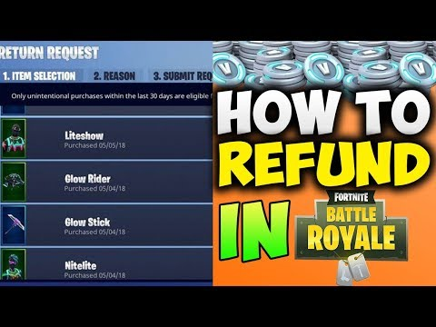 How To REFUND ANY ITEM In Fortnite: Battle Royale! [PS4, Xbox One, PC] (Patch v4.3) *