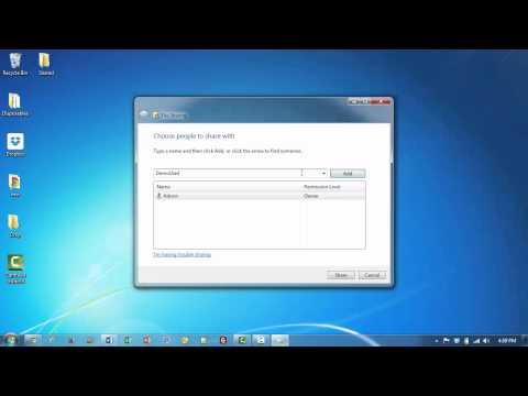 Share Folders with Password Protection in Windows 7
