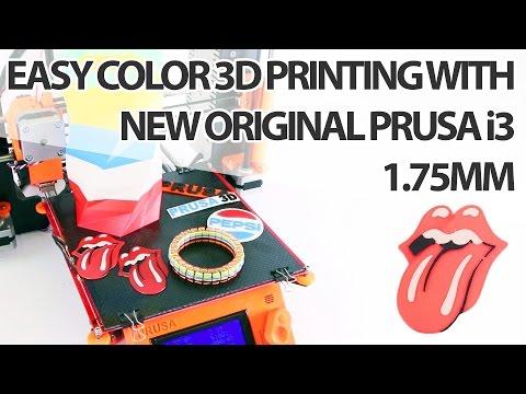 Easy Color 3D Printing on New Original Prusa i3 1.75mm