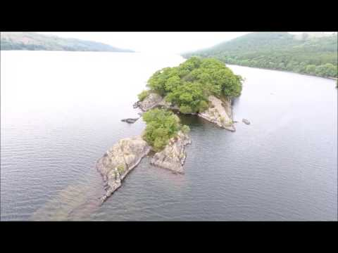 Amazing Drone Footage   Lake District Coniston water lake Island