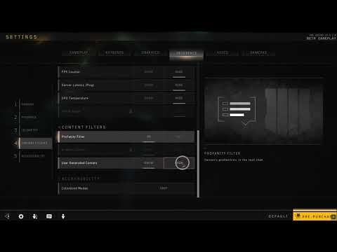 How to Hide User Generated Content in Black Ops 4
