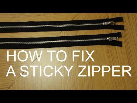 How to Fix a Sticky Zipper