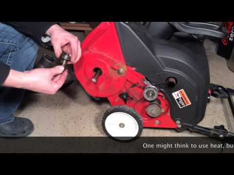 MTD Yard Machines 21 inch snow blower auger assembly FULL REPAIR in HD