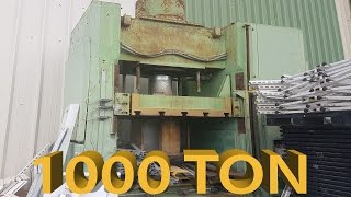 The 1000 ton MEGA HYDRAULIC PRESS And The Giant Hydraulic Press The Crusher