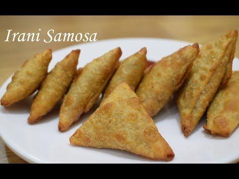 Irani Samosa Recipe-Onion Samosa - Patti Samosa Recipe - Hyderabadi Onion Vegetables Samosa - Samosa