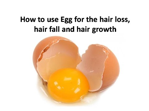 How To Use Egg For The Hair Loss, Hair Fall And Hair Growth : Hair Growth Mask For Thinning Hair
