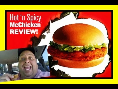 Mcdonald's Hot 'n Spicy McChicken® REVIEW!