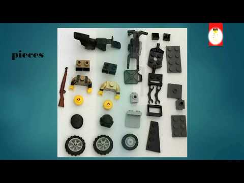 LEGO WW II : Motorcycle with a really sidecar -Making Of-