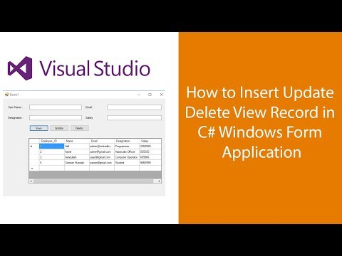 How to insert Update Delete in C# Windows Application