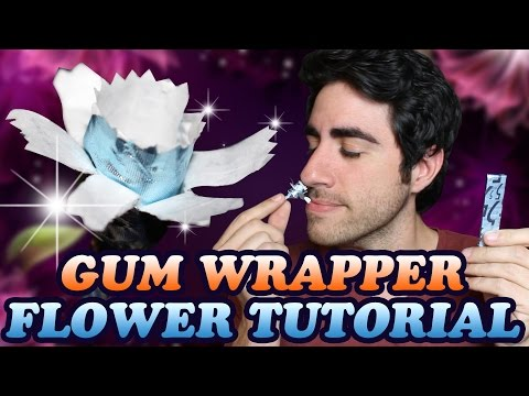 How To Make a Gum Wrapper Flower - DIY