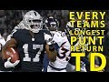 Every NFL Team39s Longest Punt Return For A Touchdown Since 1980
