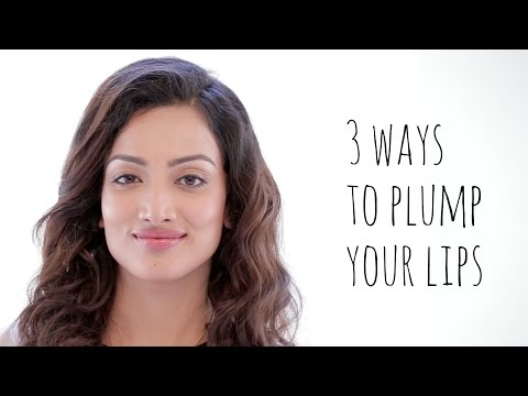 How to plump your lips in 3 ways naturally