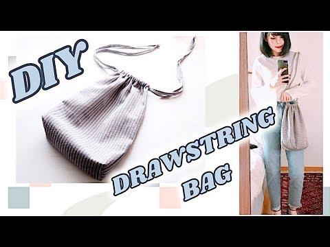 DIY Drawstring Bag / 巾着バッグの作り方 / 手作教學 / 가방 만들기 / Costura / Sewing Tutorialㅣmadebyaya
