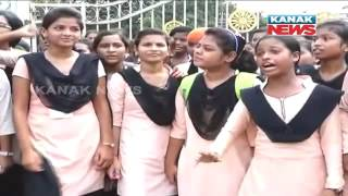 Balasore FM College Students Protest For Short Of Staff