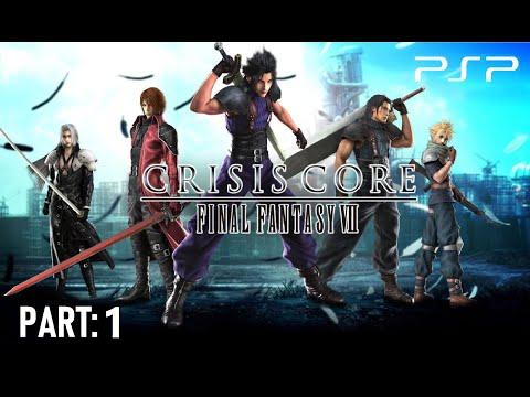 Crisis Core: Final Fantasy VII - PSP Gameplay Part 1 [HD]