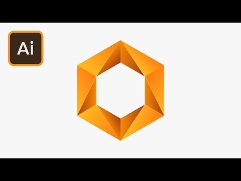 Create a Hexagon Gradient Logo in Illustrator