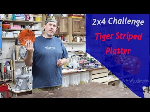 Turning and Burning A Tiger Striped Platter - Summers Woodworking 2x4 Challenge 2015