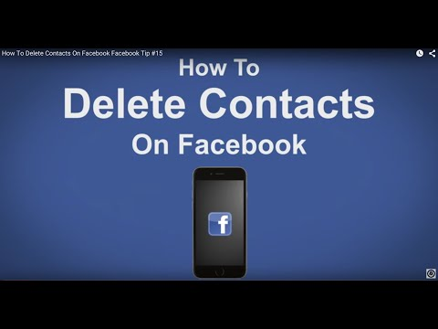 How To Delete Contacts On Facebook - Facebook Tip #15