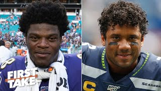 Lamar Jackson or Russell Wilson: Who is the more valuable QB?   First Take