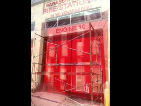 Painting Garage Doors Fire Engine Red