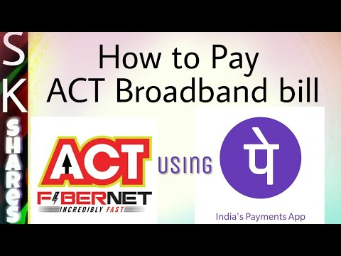 How to Pay ACT Broadband bill using PhonePe