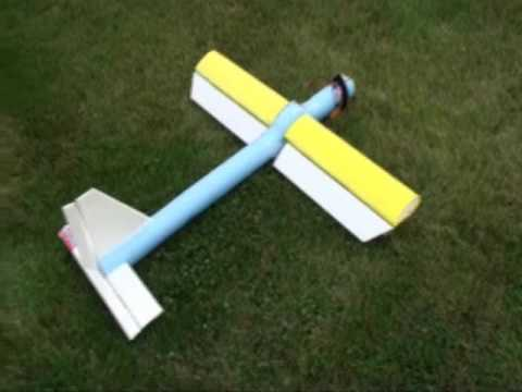 Home Brew DIY RC Plane made from pool noodle