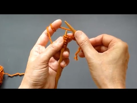 How 2 HOLD Knitting Needles In Continental Knitting & How 2 Make Stitches - Detailed Tutorial