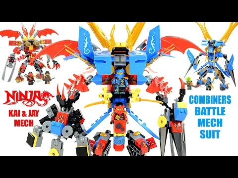 Ultimate Ninjago Battle Mech Combiner w/ Jay & Kai 2-in-1 Unofficial LEGO Knockoff Set