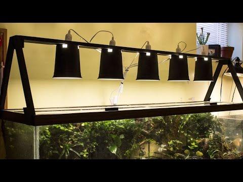 DIY Standing Light Fixture (Vivarium, Terrarium, Aquarium, etc.) for $30