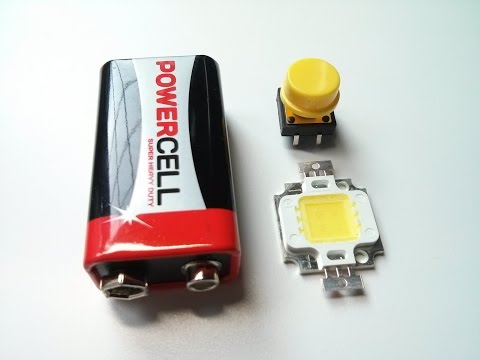 Amazing Life Hack - 9V LED Flashlight