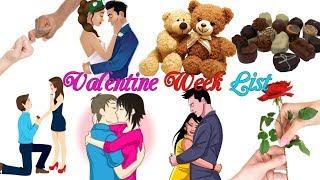 Valentine Week List 2018 || Happy Valentine Week List Calendar Schedule #2